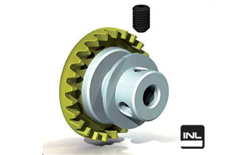 Ninco 80236 Couronne Prorace Inline 24 dents jaune 3/32\