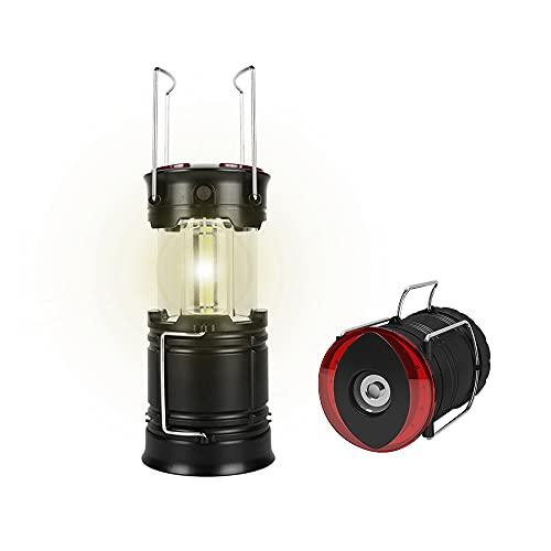 AISHNA - Farol LED telescópico para camping (recargable, con 4 modos de iluminación)