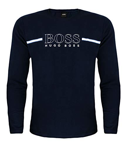 BOSS Herren Urban Long Set Pyjamaset, Medium Blue425, S