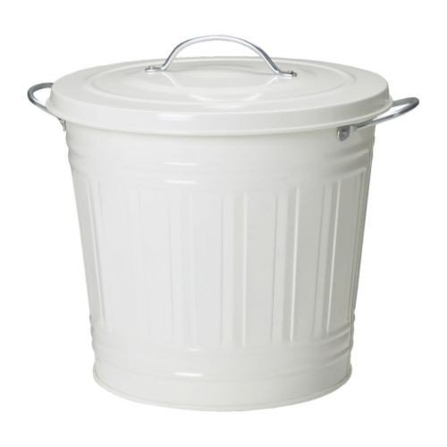 IKEA KNODD - Papelera con tapa, blanco