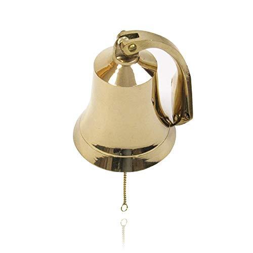 """Brass Bells 1/"""" High One Dozen Cute Wedding Bells Motorcycle Bells Polished Brass"""