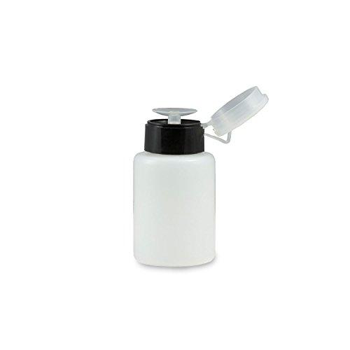 N&BF Dispenser pompfles, 150 ml, zwart, pompdispenser voor het doseren van nagellak, cleaner en meer, voor nagelstudio en thuis, praktische cosmetica-pompfles