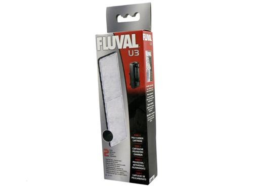 Fluval U3 - Juego de filtros de Espuma, Cartuchos de Poli carbón y biomax, 70 g