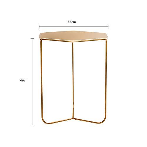 MEIDUO Tables Table d'appoint, table basse en métal pour terrasse, table d'appoint pour extérieur résistant aux intempéries, petites tables rondes en 2 couleurs Bureau d'ordinateur