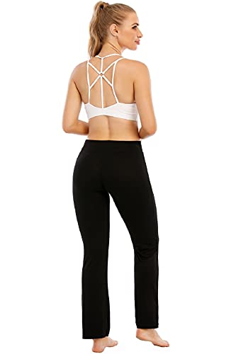 UMIPUBO Women Sports Bra Super Comfort Bra Elastic Breathable Wireless High Impact Unique Cross Back Yoga Bras Top Removable Pads Sleep Bras for Women Girls(White, M)
