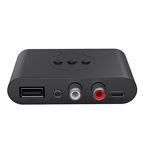 MERIGLARE Adaptador USB Bluetooth 5.0 Receptor de Audio RCA de 3,5 mm NFC U Disk Play para Amplificador de Altavoz de TV Sistema de transmisión de música para