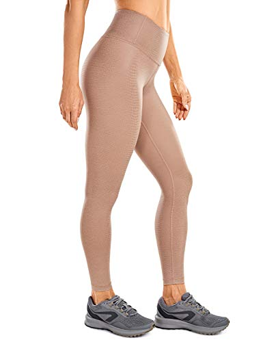 CRZ YOGA Leggings Mujer Cintura Alta Pantalones Deportivos Cuero Sintético leggings-64cm Lagarto...