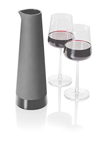 Magisso 70602 Karaffe in selbst abkühlende Keramik, hält das Getränk 4-6 Stunden natürlich abgekühlt durch Verdunstung, 1,0 L, 10,0 x 10,0 x 30,5 cm