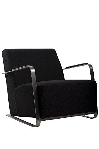Zuiver Sessel ADWIN Felt Black, Stoff, schwarz, 70 x 83 x 69 cm