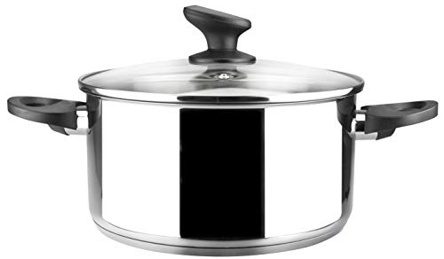 Olla MAGEFESA DYNASTIE – La Familia de Productos MAGEFESA DYNASTIE está Fabricada en Acero Inoxidable 18/10, Compatible con Todo Tipo de Fuego, INDUCCIÓN Total. Cacerola