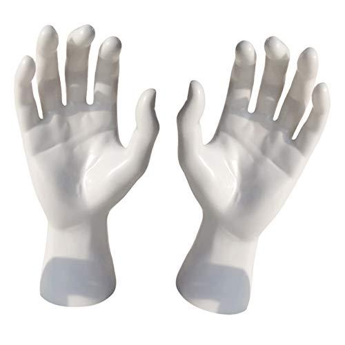 yotijar Artcraft - Pulsera de PVC para hombre, modelo de anillo, pulsera de vigilancia, guantes para exponer los monos de la torre Blanco 1 Par