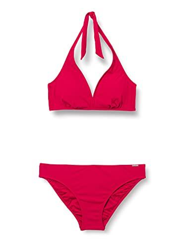 Marc O'Polo Body & Beach Women Beach Triangel Bikini Set, Dunkelrot, 38 Donna