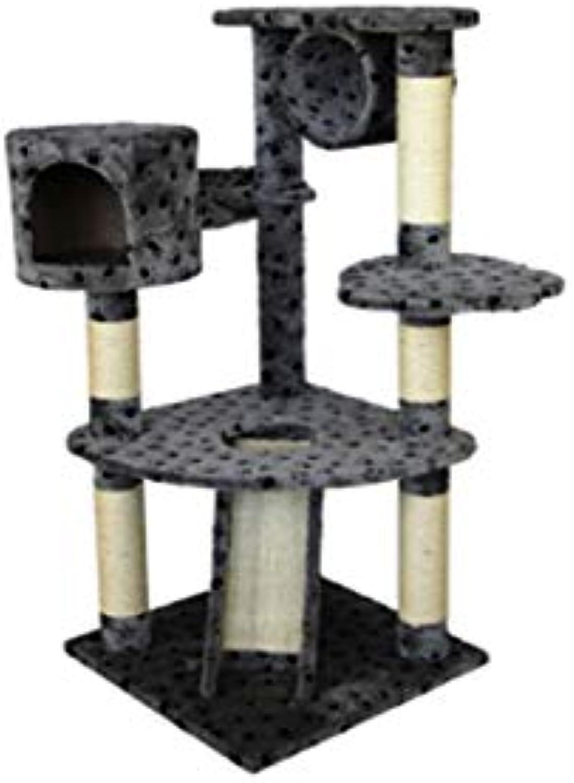 calidad auténtica Árbol de de de gato Cat Tree Activity Center Multi-Layer sisal Column Juguete Cat Scratch Board Villa  varios tamaños