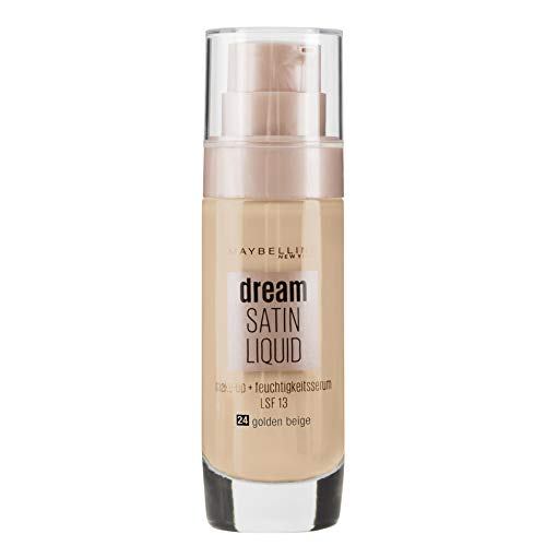 Maybelline New York Dream Satin Liquid Make Up 24 Golden Beige 3er Pack(3 x 30 milliliters)