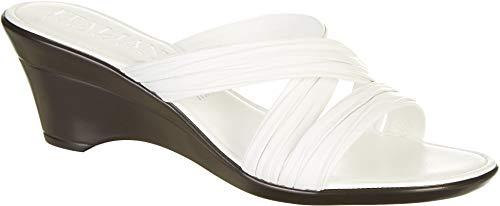 ITALIAN SHOEMAKERS Womens Cruise Wedge Sandals 9.5 White