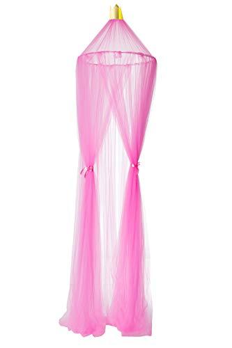 Amazinggirl Betthimmel Baldachinfür Mädchen und JungenDeko Kinder Kinderzimmer Bett Moskitonetz rosa pink 60 x 240 cm aus Tüll