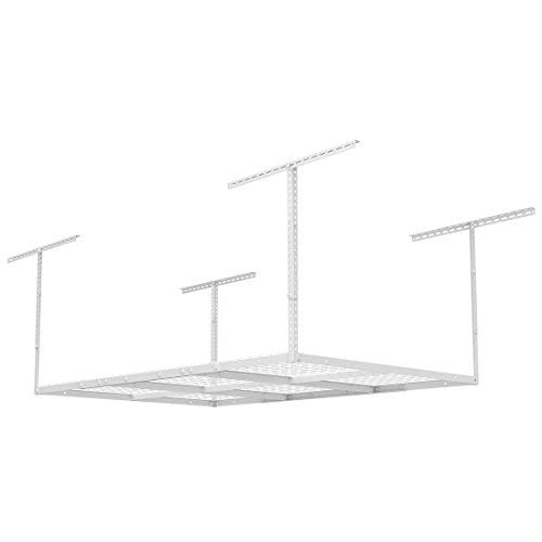 FLEXIMOUNTS 4x6 Heavy Duty Overhead Garage Adjustable Ceiling Storage Rack