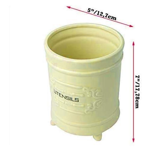 Comfify French Ceramic Utensil Holder - Yellow