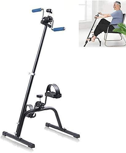 ZHZHUANG Mini Bicicleta Ejercicio Bicicleta, Pedal Ejercitora, Máquina de Piernas, Entrenador de Movimiento, Entrenador de Brazo Y Pierna, Transparente de Ciclo Gimnasio para el Hogar Pedal con Resis