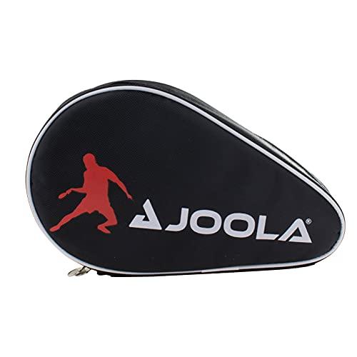 JOOLA Funda para Raqueta de Ping Pong de Mesa, Funda Doble para 2 Fundas Impermeables de Ping Pong, Negro/Rojo, 28 x 17 x 4 cm