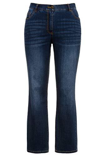 Ulla Popken Damen Mandy, 5-Pocket, Komfortbund, gerades Bein Jeans, Blau (Bleached 92), (Herstellergröße:52)