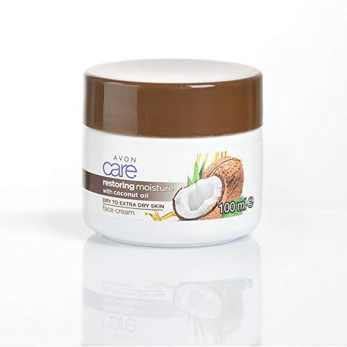 Avon Care que restaura la crema facial humectante con aceite de coco
