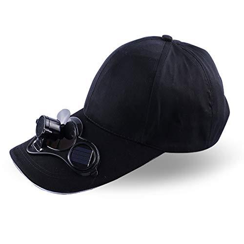 Beautyrain Ventilador solar Sombrero, Ajustable Energía solar Senderismo refrigeración Pesca Cap ventilador Para la pesca de golf del béisbol al aire libre del verano