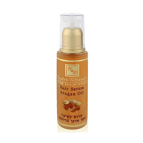 Mer Morte cosmétique - Health and Beauty Dead Sea Minerals - Sérum traitant pour cheveux à l'huile d'argan du Maroc - 50 ml
