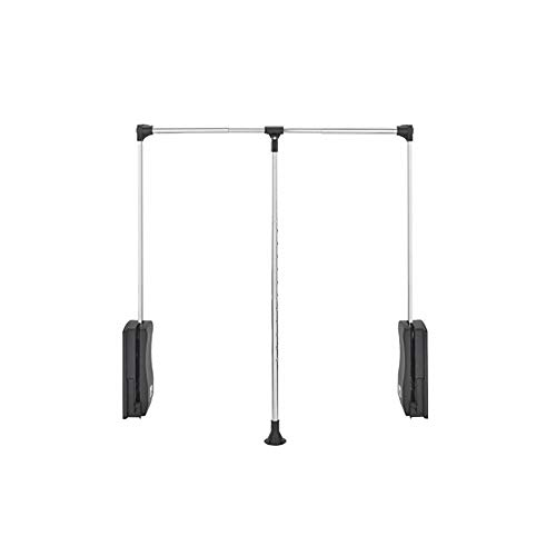 Rev-A-Shelf CPDR-2635 Adjustable Pull Down Closet Rod with Telescoping Handle Fits 26 to 35 Inches, Chrome