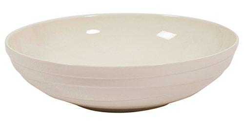 Jamie Oliver Waves - Ensaladera grande de porcelana blanca (32 cm), diseño de ondas, color blanco