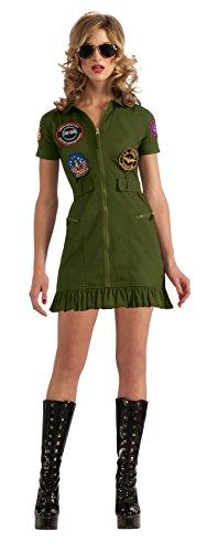 Secret Wishes US Navy Top Gun Flight Dress, Green, 4 Sizes, XS, S, M, Large