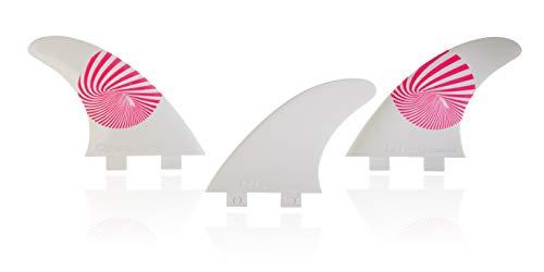 E8 FIN SYSTEM QUILLA Surf FCS Compatible Tri-Set A1 Equivalente AM1 Composite 50% Fibra DE Vidrio. Sistema Fusion. Talla L + Estabilizador