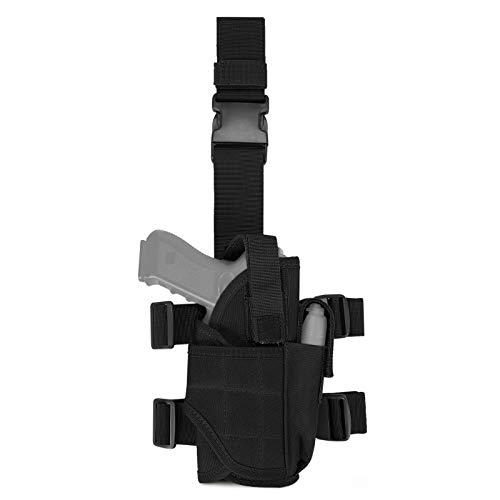 Huntvp Drop Leg Holster Tactical Thigh Pistol Gun Holster Right Hand Adjustable Gun Holster(Black)
