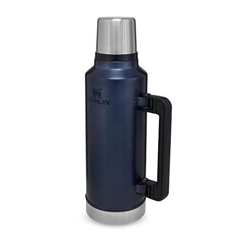 Stanley Classic Legendary Bottle Edelstahl-Thermoskanne, | BPA-frei |Hält 40 Stunden heiß | Deckel fungiert als Trinkbecher | Spülmaschinenfest | Lifetime Warranty, Nightfall, 1.9 L