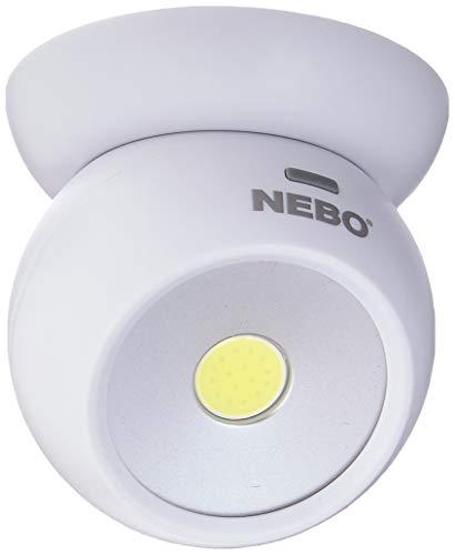Nebo Tools 6690 Eye Lot de 2 lampes directionnelles 360 degrés 220 lumens Base magnétique 3 modes de montage