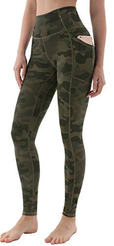 JOYSPELS Leggings Damen, Sporthose Damen Sportleggins Yogahose Leggins Camouflage M