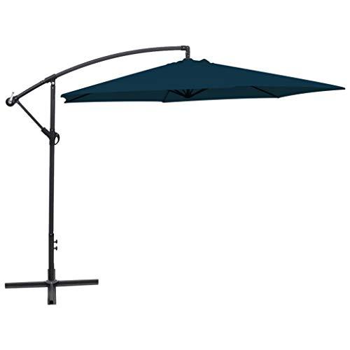 N/O Viel Spaß beim Einkaufen mit Freiarm-Sonnenschirm 3 m Blau