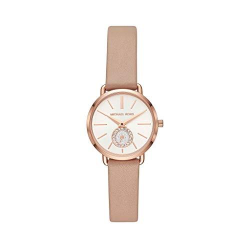 Michael Kors Damen Analog Quarz Uhr mit Leder Armband MK2752