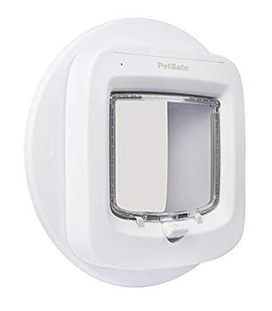 PetSafe - Adaptateur de montage pour Installation de la Chatière avec puce électronique, pour Installation sur Fenêtre, Mur et Porte métallique - Blanc