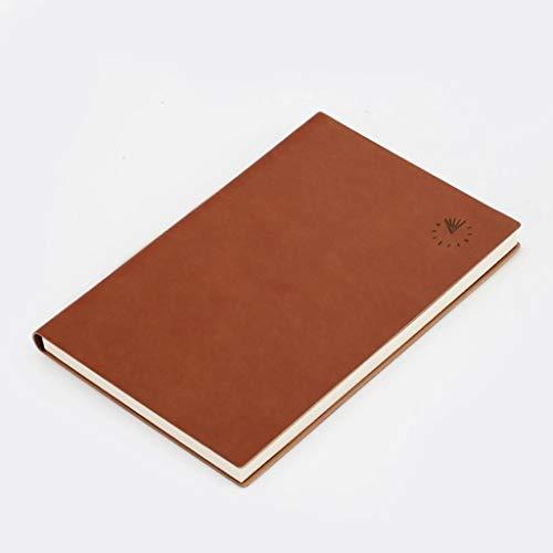 WPBOY Cuadernos Pasión Planner Media Sin Fecha orientado a Objetivos Programa Diario, Cita del Calendario, Reflejo Journal-(la Vida Una Buena Comienza Ahora) Cuaderno de Moda (Color : Brown)