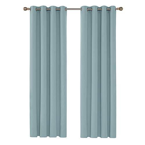Deconovo Cortinas de Salon para Ventanas Modernas Suaves 2 Piezas 117 x 229 cm Azul Claro