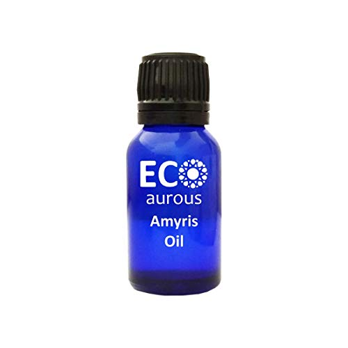 Amyris Oil (Amyris balsamifera) 100% Natural, Organic, Vegan & Cruelty Free Amyris Essential Oil | Pure Amyris oil By Eco Aurous (20000 ml) with MSDS & COA