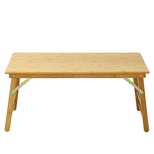 UNICOO - Bamboo Rectangular Folding Table Children's Art Craft Study Activity Table, Picnic Table, and Entertainment Table. (Table Only)