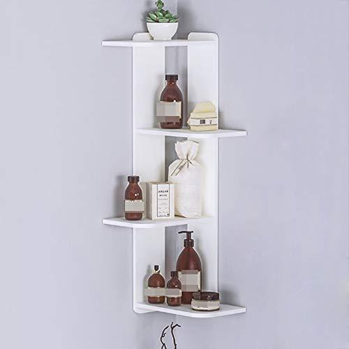 Estantería Flotante de Pared Floating Shelves Angulares de juguetes planta de la flor de almacenamiento de cajas Estantes Estanterías Dormitorio moderno Living Room, Artículos for el hogar blanco flot