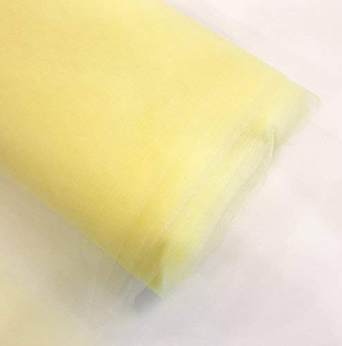 "Craft and Party, 54"" by 40 yards (120 ft) fabric tulle bolt for wedding and decoration (Yellow)"