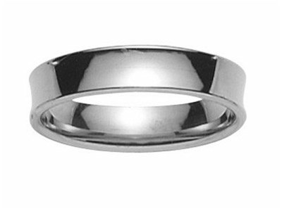 BERRI-www.diamants-perles.com-Alliance, per matrimonio, in oro bianco 750, 18 carati %2F1000, larghezza 5 mm, Oro bianco 750/1000, 23, cod. FB172055-63