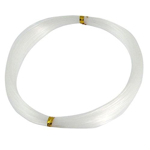 DealMux 30 Metros de Largo 0,7 mm Diámetro de plástico Blanco de 40 Libras línea de Pesca