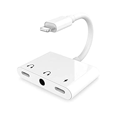 SOOTEWAY 3.5 mm Headphone Jack Adapter for iPhone,3 in 1 Audio splitter with Dual headphone jacks and support charging,comptible for iPhone 11/11Pro/XR/XS MAX/8/8 Plus/ 7/7Plus,Support Newest iOS 13 from SOOTEWAY