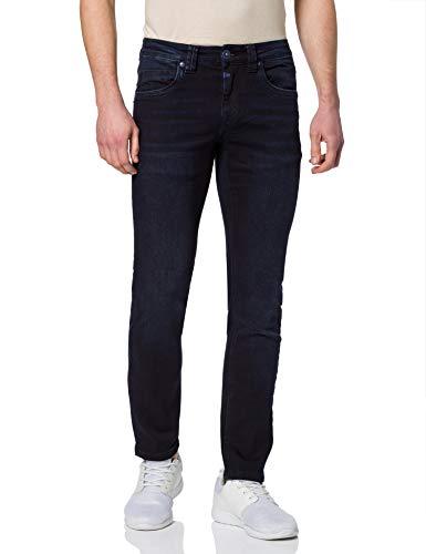 Timezone Slim EduardoTZ Jeans, Black Blue Wash, 28/32 Uomo