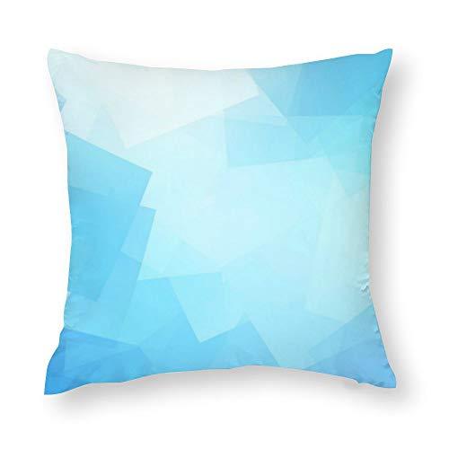 Pastel Blues Design Customizable Throw Pillow Covers Case Cushion Pillowcase with Hidden Zipper Closure for Sofa Home Decor 16 x 16 Inches